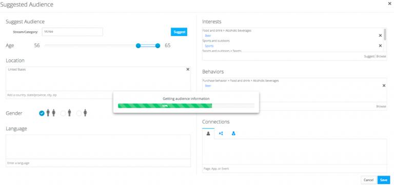 astute social screenshot ad management audience creation