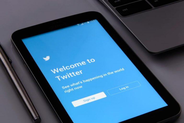twitter login on a tablet