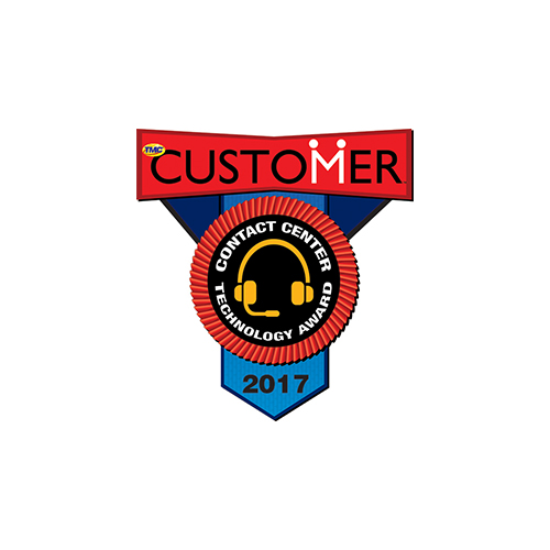 2017 customer magazine contact center technology award badge