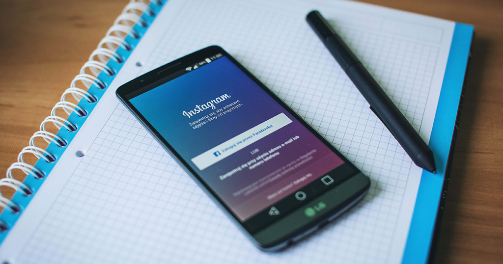 login screen for instagram on mobile phone
